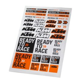KTM CORPORATE STICKER SHEET