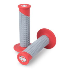 HANDLEBAR GRIP CLAMP ON PILLOW TOP RED/GREY